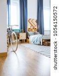 spacious  modern bedroom... | Shutterstock . vector #1056150572