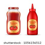vector realistic set with two... | Shutterstock .eps vector #1056156512