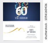 60 years anniversary invitation ... | Shutterstock .eps vector #1056160436