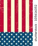 american vintage flag. an... | Shutterstock .eps vector #105616352