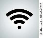 wi fi signal or wi fi hotspot... | Shutterstock .eps vector #1056163952