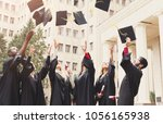 a group of multietnic students... | Shutterstock . vector #1056165938
