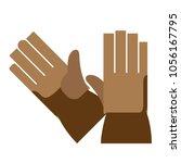 work gloves flat vector... | Shutterstock .eps vector #1056167795