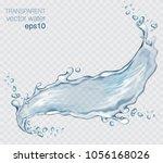 transparent vector water splash ... | Shutterstock .eps vector #1056168026