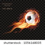 webrealistic vector soccer ball ... | Shutterstock .eps vector #1056168035