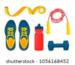sportswear collection  color... | Shutterstock .eps vector #1056168452