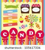 sweet card. vector illustration | Shutterstock .eps vector #105617336