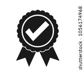 approved certified icon.... | Shutterstock .eps vector #1056174968