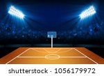 basketball arena field with...   Shutterstock .eps vector #1056179972