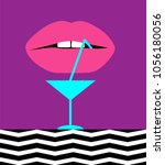 cocktail abstract background...   Shutterstock .eps vector #1056180056