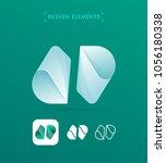 vector abstract logo elements....   Shutterstock .eps vector #1056180338
