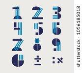 numerals vector  typography...   Shutterstock .eps vector #1056185018
