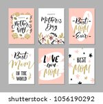 set of cute greeting cards for... | Shutterstock .eps vector #1056190292