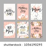 set of cute greeting cards for... | Shutterstock .eps vector #1056190295