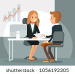 illustration with business... | Shutterstock .eps vector #1056192305