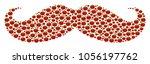 gentleman moustache collage of...   Shutterstock .eps vector #1056197762