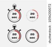 timer 20 seconds on gray... | Shutterstock .eps vector #1056200072