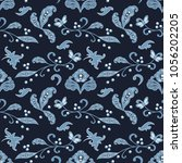 seamless pattern in traditional ... | Shutterstock .eps vector #1056202205