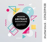 modern abstract with circle... | Shutterstock .eps vector #1056209438