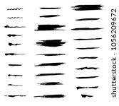 set of brushes | Shutterstock .eps vector #1056209672
