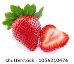 strawberry isolated on white... | Shutterstock . vector #1056210476