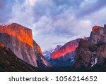 beautiful colorful of yosemite... | Shutterstock . vector #1056214652