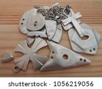 silver jewelry close up. photo... | Shutterstock . vector #1056219056