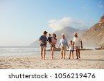 multi generation family on... | Shutterstock . vector #1056219476