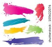 color brushstroke | Shutterstock .eps vector #105622076