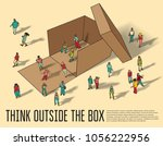 isometric group business people ... | Shutterstock .eps vector #1056222956