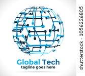 global tech logo design template   Shutterstock .eps vector #1056226805