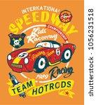vintage speedway kids roadster... | Shutterstock .eps vector #1056231518