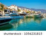 luxury yachts in puerto banus... | Shutterstock . vector #1056231815
