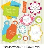 cute scrapbook elements | Shutterstock .eps vector #105623246