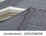 Edge Of Roof Shingles On Top O...