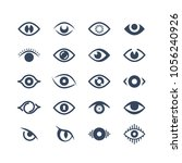 human eye  supervision and view ... | Shutterstock .eps vector #1056240926