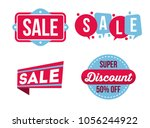sale and discount banner set... | Shutterstock .eps vector #1056244922
