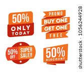 sale and discount banner set... | Shutterstock .eps vector #1056244928