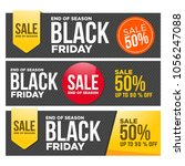 set of sale banners design.... | Shutterstock .eps vector #1056247088
