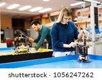 young student of robotics... | Shutterstock . vector #1056247262