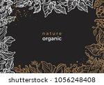 vector floral frame of natural... | Shutterstock .eps vector #1056248408