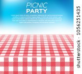 vector summer picnic design | Shutterstock .eps vector #1056251435
