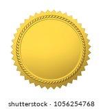 blank award medal isolated. 3d... | Shutterstock . vector #1056254768
