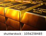 stack close up gold bars ... | Shutterstock . vector #1056258485