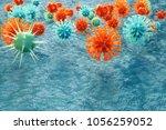 3d illustration pathogenic... | Shutterstock . vector #1056259052