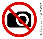 prohibiting sign photo video... | Shutterstock .eps vector #1056259292