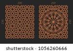 laser cutting set. woodcut...   Shutterstock .eps vector #1056260666