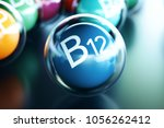 vitamin b12  on black... | Shutterstock . vector #1056262412
