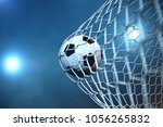3d rendering soccer ball in... | Shutterstock . vector #1056265832