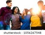 group of school friends... | Shutterstock . vector #1056267548